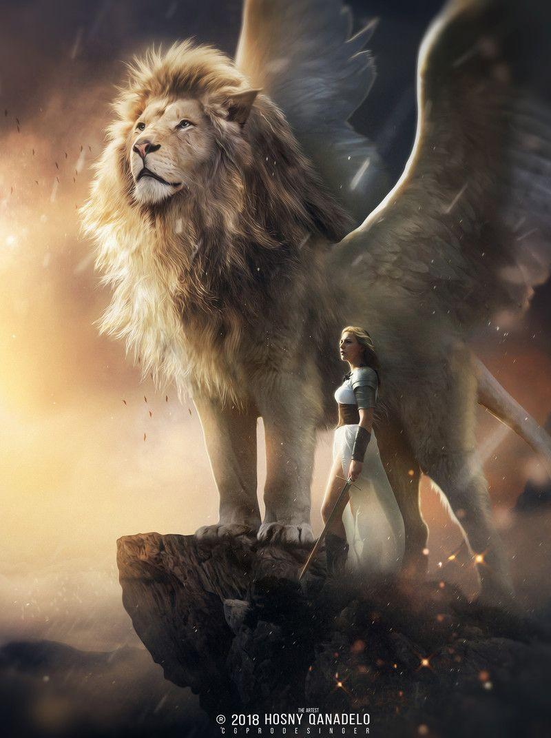 lion aslan- narnia, Hosney Qanadelo