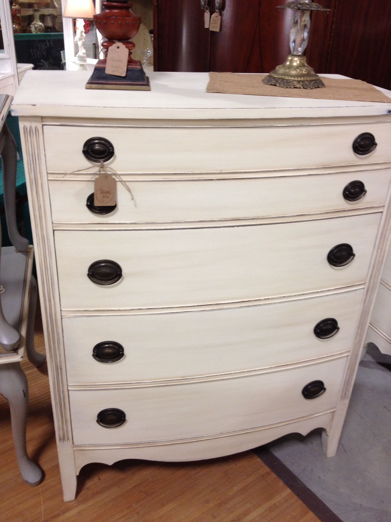 Painted Duncan Phyfe chest ASCP old white My Booth My Home