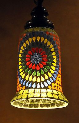 Vintage Mosaic Glass Ceiling Lights Lampshades Pendant Hanging Lamp Exclusive Room Decor