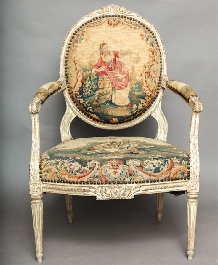 Elegant Pair Of 18th Century Louis XVI Chairs