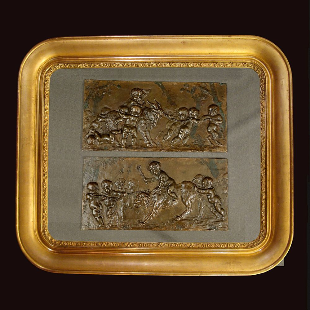 PAIRE DE SCÈNES EN BRONZE DE CLODION - PAIR OF SCENE IN BRONZE FROM CLODION