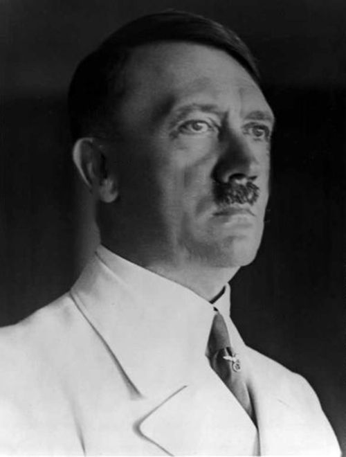 Hitler's orgasmic white uniform, only worn for a few brief months in 1939.