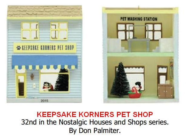 Pet Shop Ornament:  Hallmark Nostalgic Houses & Shoppes, Keepsake Korners Pet Shop