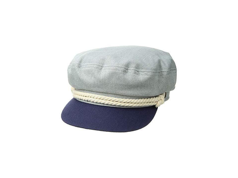 e89fa8bb416 Brixton Fiddler Cap (Light Denim Navy) Caps. When the high seas call ...