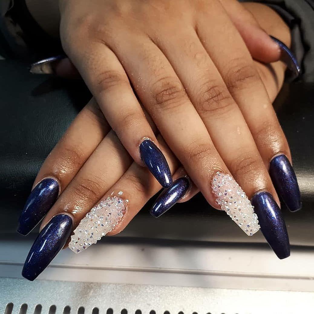 Swarovski Crystal Pixie Edge Nails December 2017 Nail Shapes