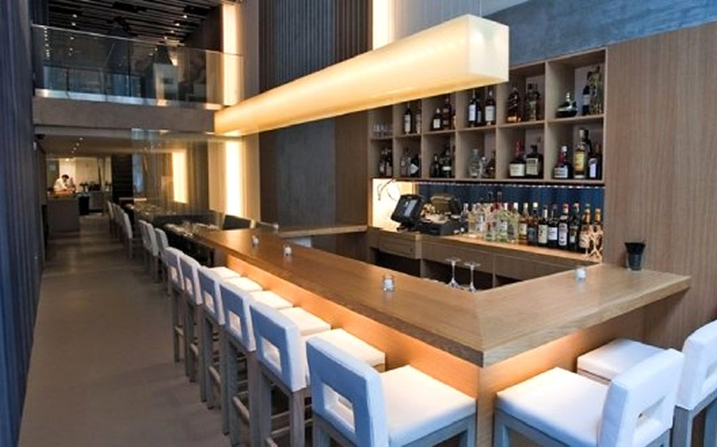 Contemporary restaurant designs modern bar interior design of aldea restaurant new york - Interior design of bar ...