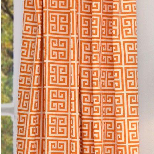 Exceptional Hyde Park Aztec Orange Curtain Panel