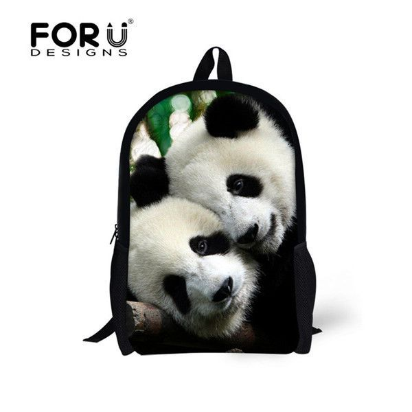 9dd549d368 Age 7-13 Children Backpack 16 inch Mochila Infantil Cool Horse Panda Cute Backpacks  for Boy and Girl Kid s Primary School Bag