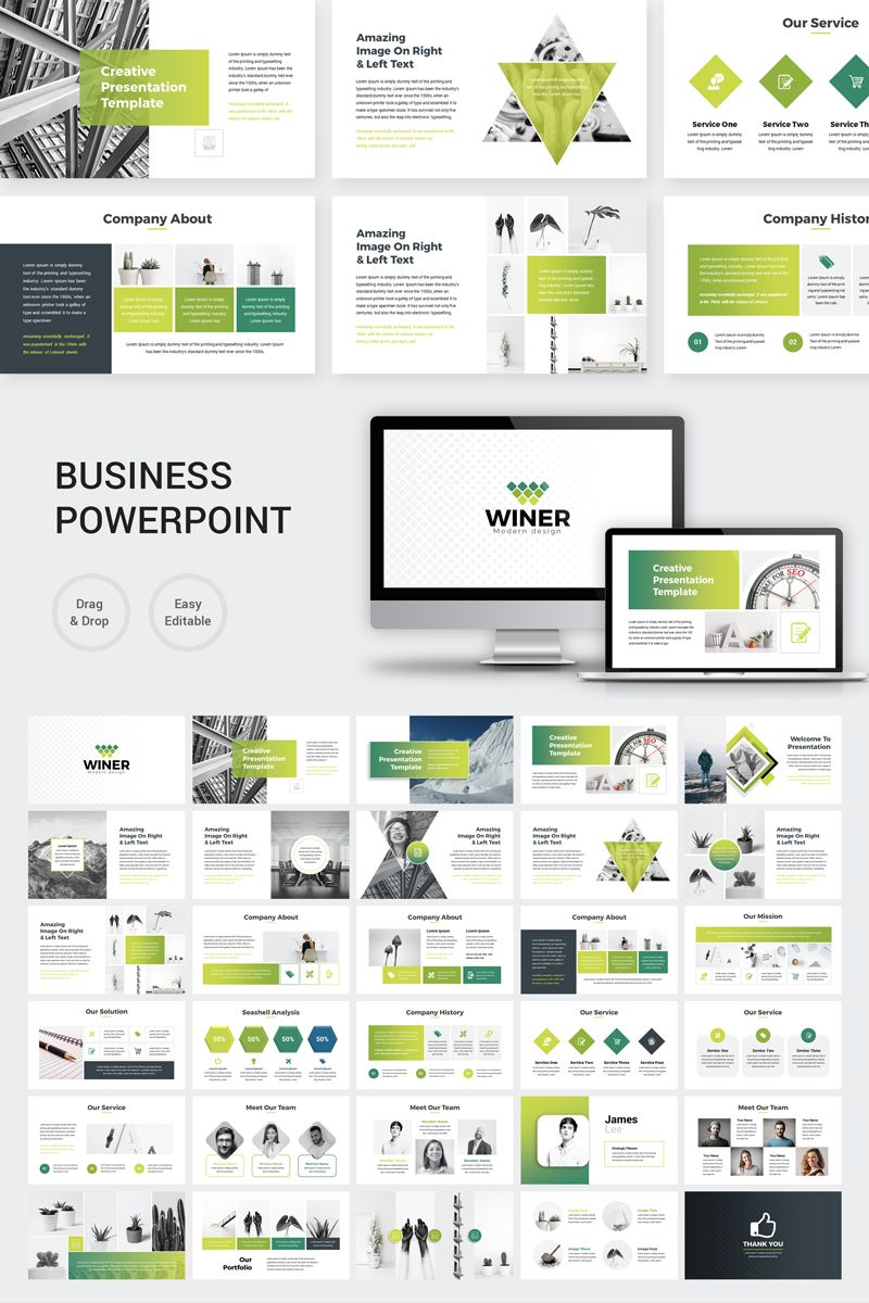 Winer Powerpoint Template 76871 Business Presentation