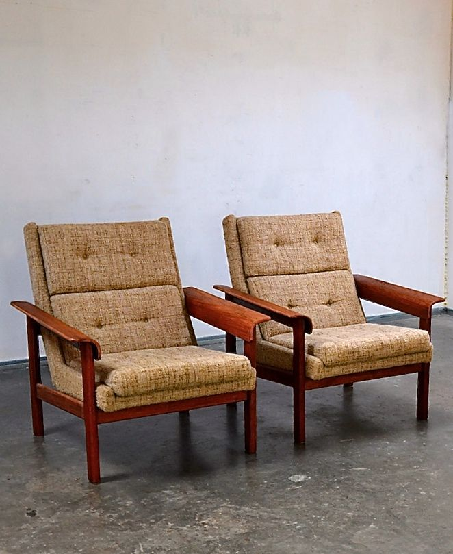 Anonymous; Teak Lounge Chairs by Topform, 1960s.