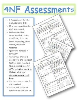 Th Grade Common Core Math Assessments Nf  Nf  Common