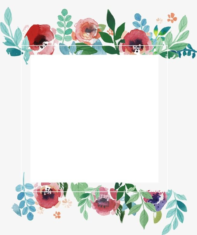 Watercolor Flower Frame Watercolor Flower Frame Watercolor Vector Png Transparent Clipart Image And Psd File For Free Download Flower Frame Watercolor Flowers Free Watercolor Flowers