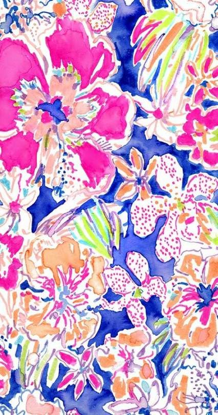 Wall paper watercolor iphone lilly pulitzer 62 ideas for
