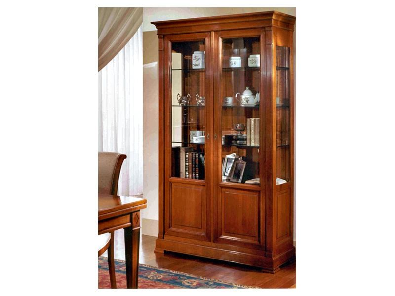 Furniture With Open Shelves Antique Art Gallery Classical Furnishing 2 Doors Showcase