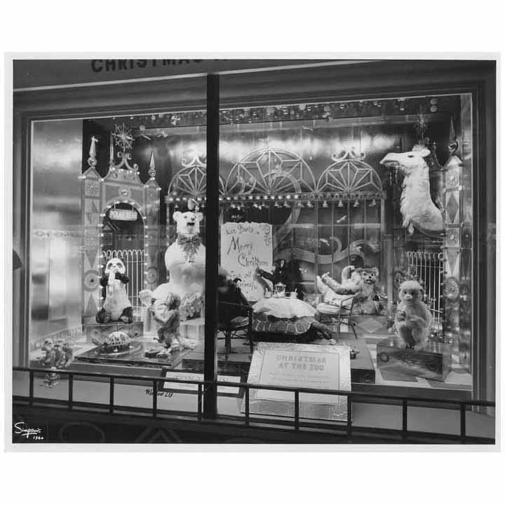 hudson bay christmas window, 1960