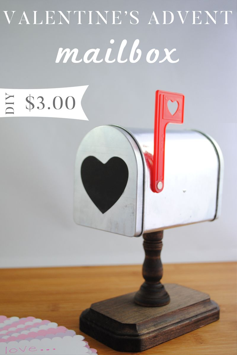 Valentine\'s Day Advent Mailbox - So easy