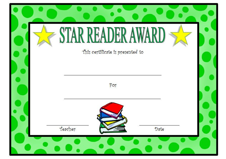 Star Reader Certificate Template Free 2 Reading Awards Certificate Reading Certificates Certificate Templates
