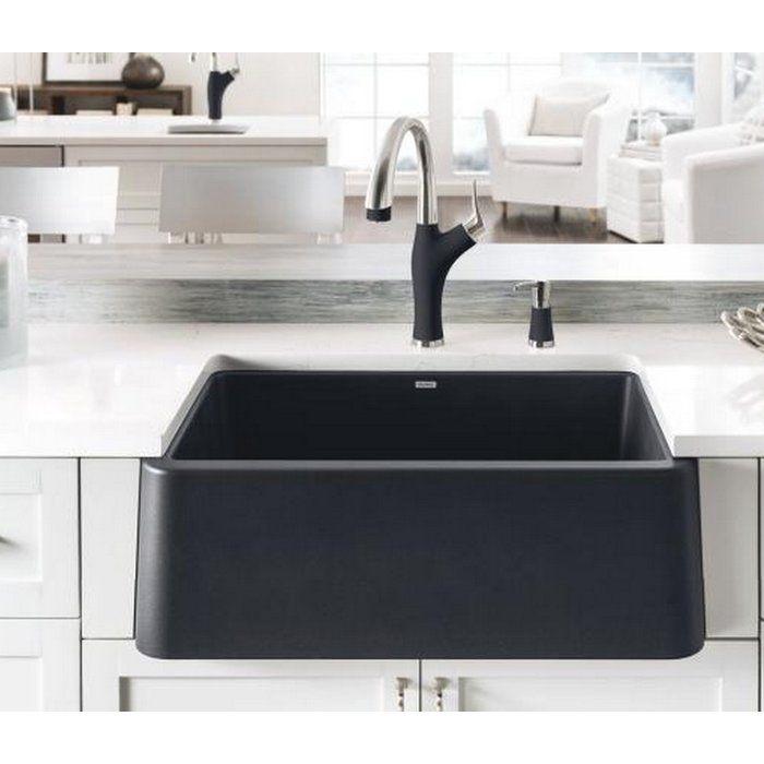 Ikon Silgranit 30 L X 19 W Farmhouse Apron Kitchen Sink