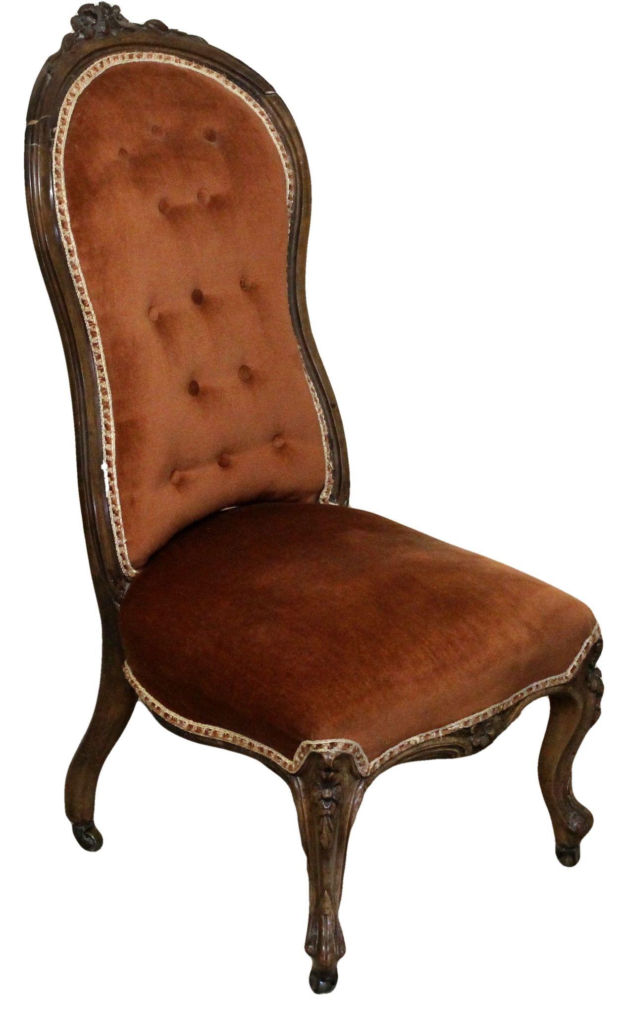 Victorian Antique Button Back Open Chair - Victorian Antique Button Back Open Chair Antique Chairs Antiques
