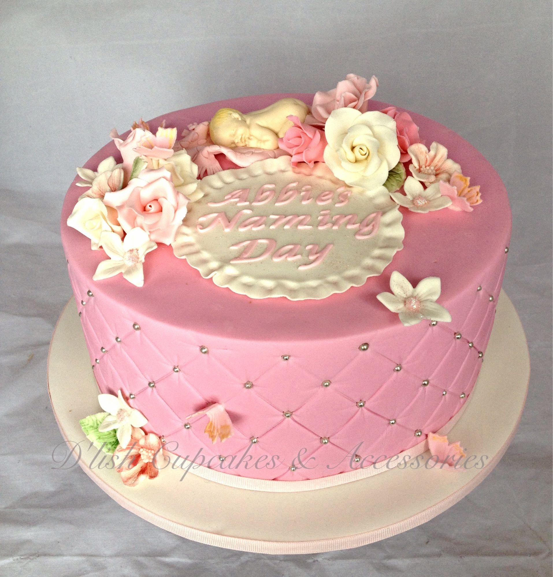 Baby girl naming day cake christening cake pink cake www