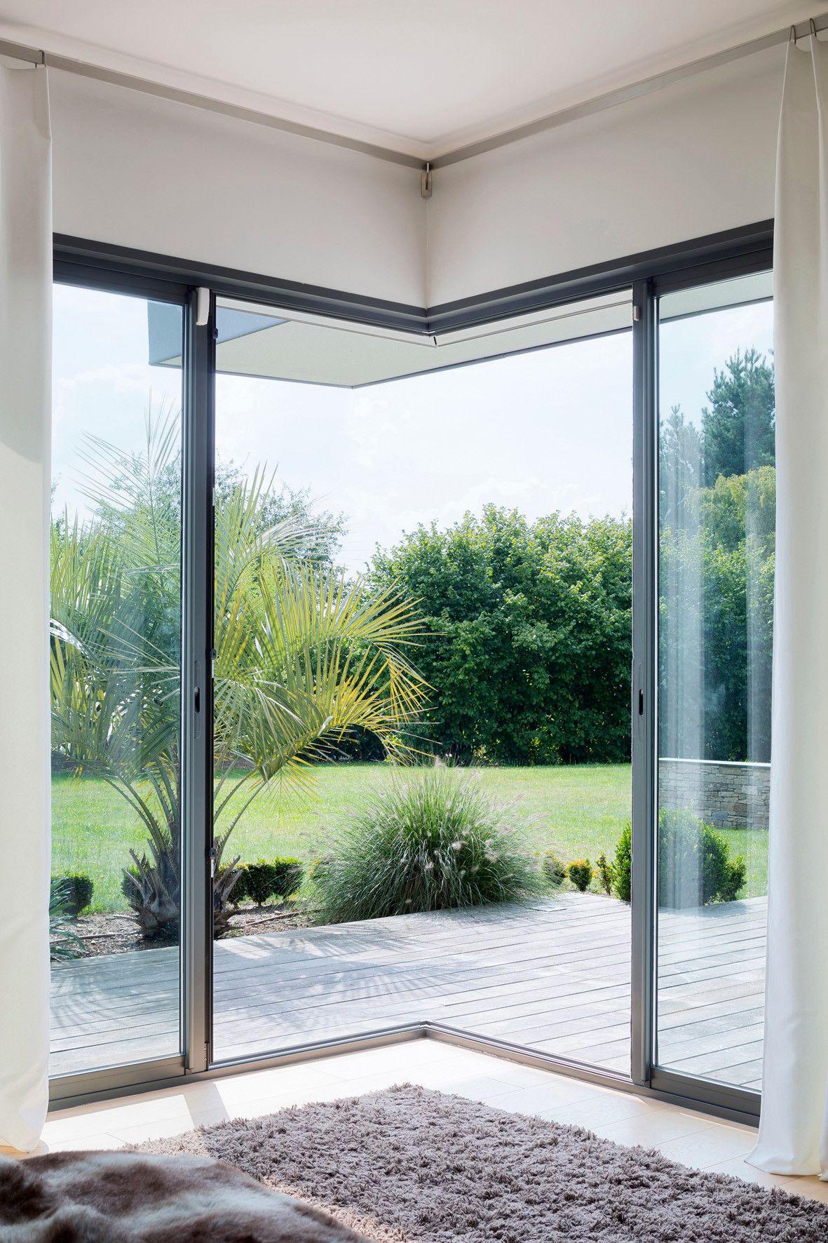 Home design exterieur und interieur le bloc coulissant pour créer des angles entièrement ouverts sur l