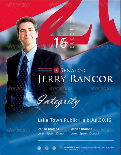 25 Best Political Flyer Print Templates Link fripin – Election Brochure