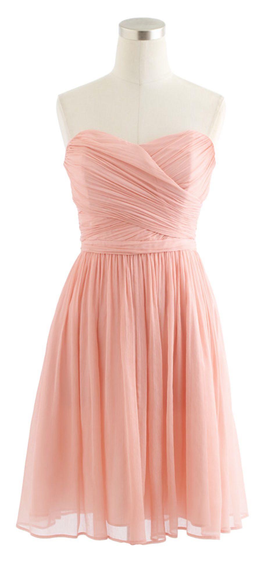 Blush sweetheart dress | Style | Pinterest | Damitas de honor, Damas ...