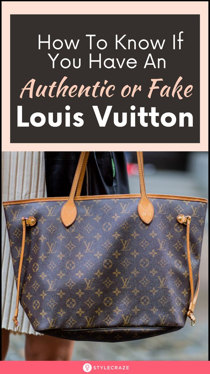 How To Tell If A Louis Vuitton Bag Is Real or Not! in 2020 ...