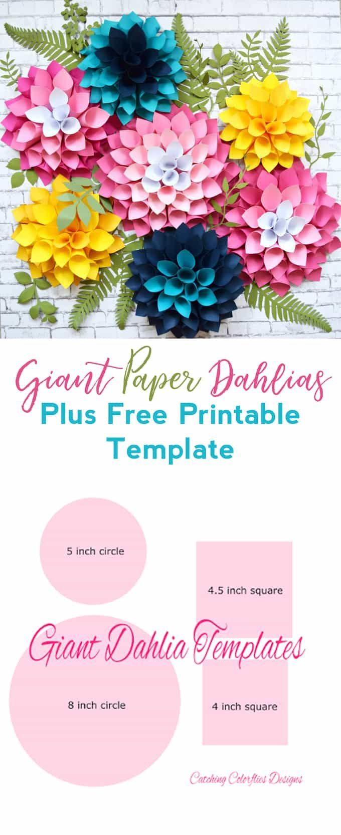 Step by Step Easy Giant Paper Dahlia Tutorial  Paper flowers craft