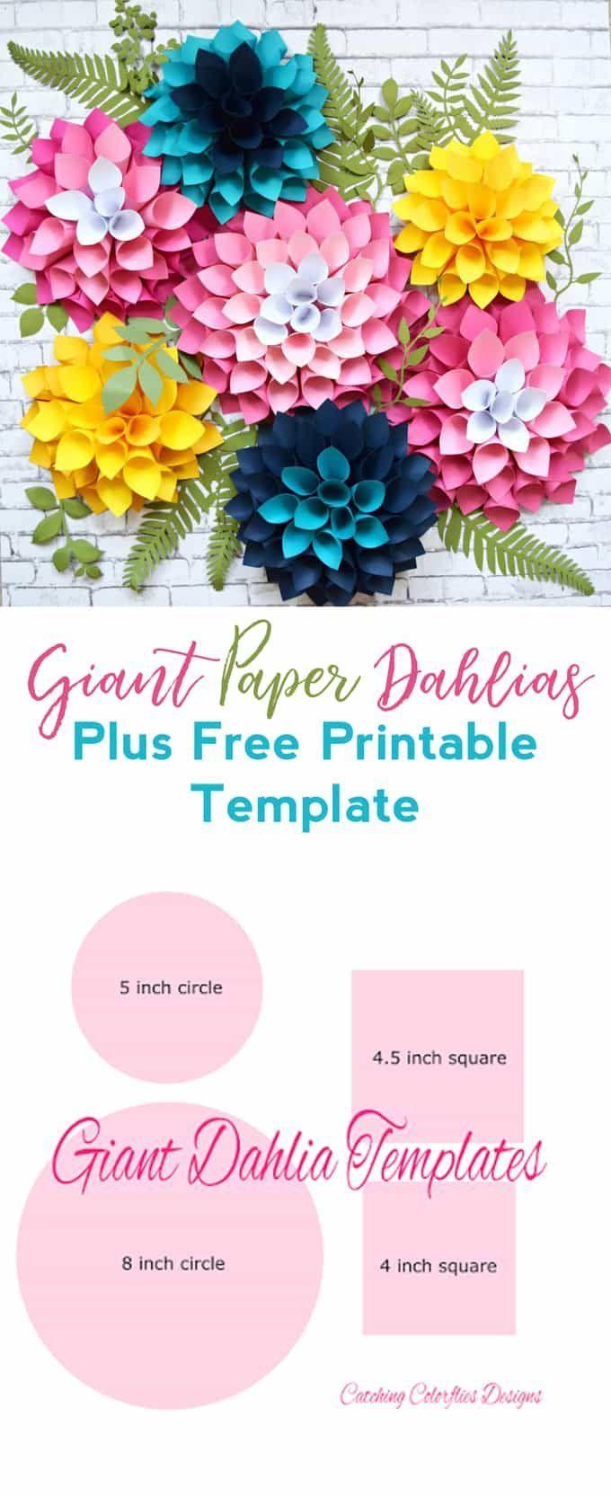 Step by step easy giant paper dahlia tutorial