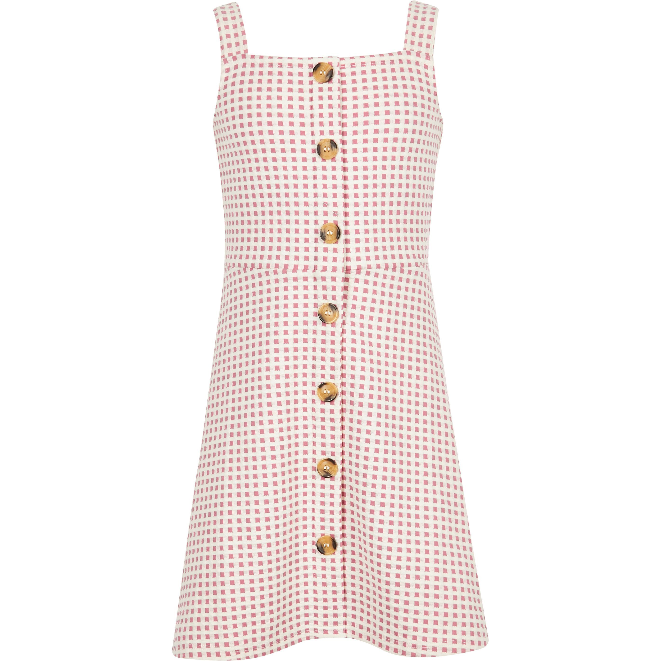046852dc4 Girls pink check pinafore dress in 2019 | Products | Check pinafore ...