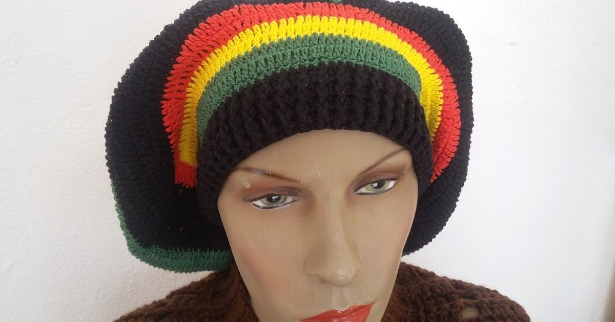 Rasta Bonnet /_ Knitted a /_ scull Cap /_ le reggae hippie