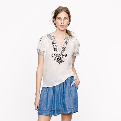 Pre-order Baja embroidered top - tops - Women's shirts & tops - J.