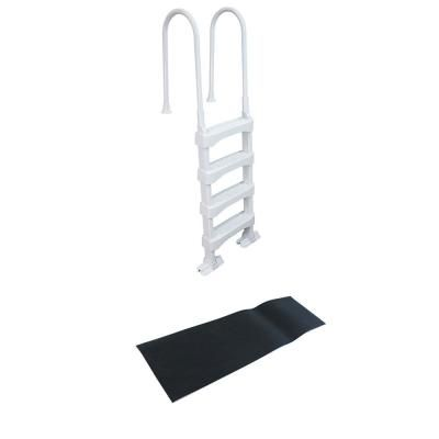 The Vinyl Works 4 Step Ladder For 60 In Pool Walls With Swimming Pool Ladder Mat Sld2 87951 The Home Depot Swimming Pool Ladders Pool Ladder 4 Step Ladder