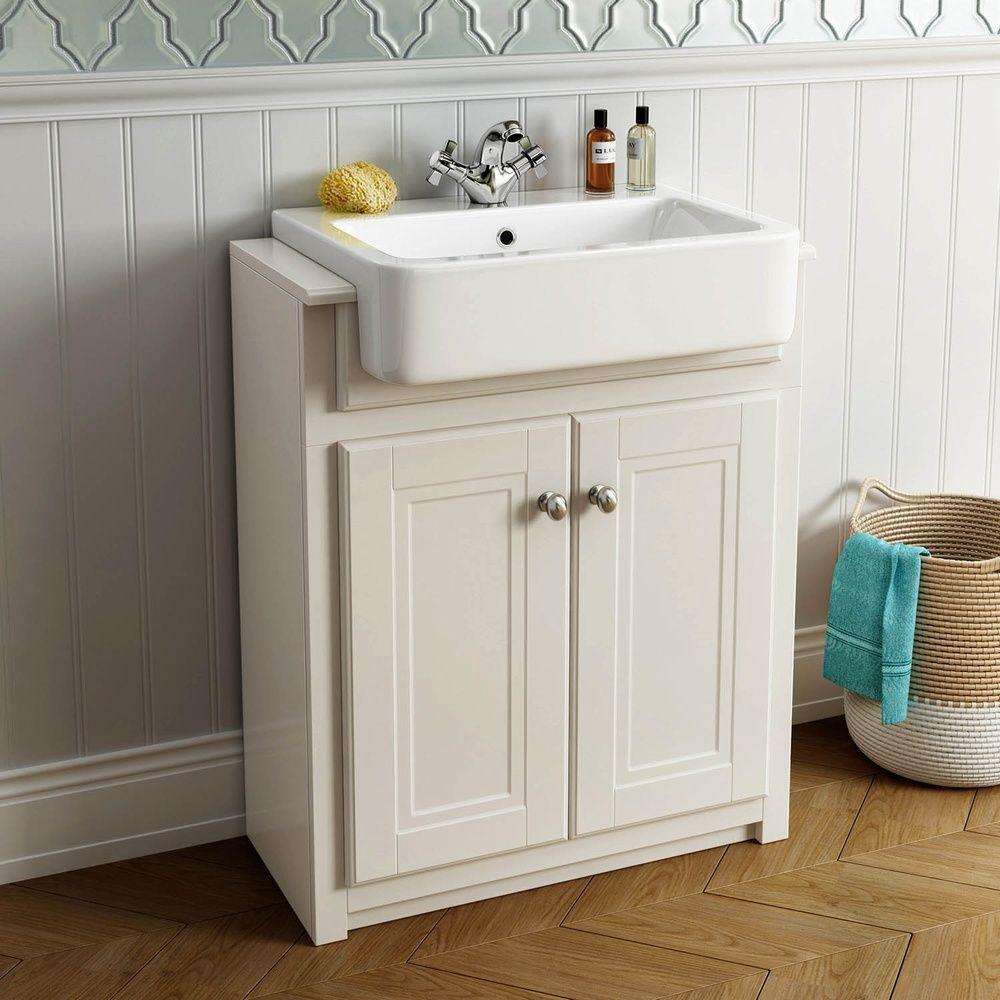 Oxford mm ivory double door basin vanity unit bathroom