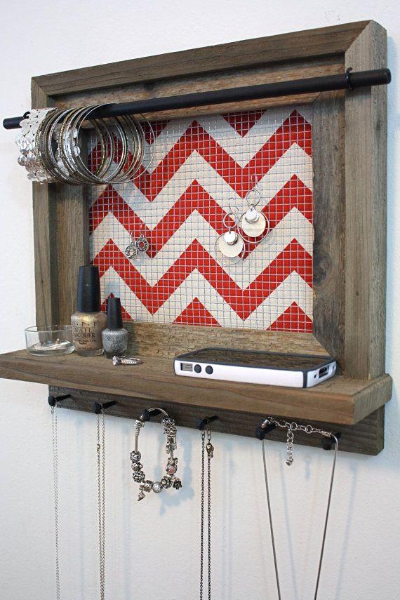 Barnwood Jewelry Shelf 14 x 14