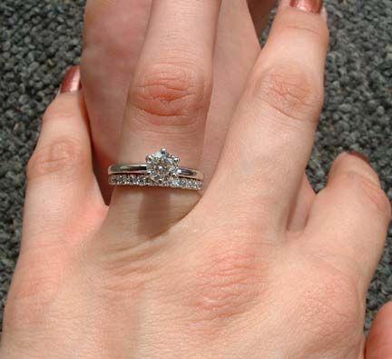 plain wedding band or diamond wedding band wedding and engagement ringsdiamond - Solitaire Engagement Ring With Diamond Wedding Band