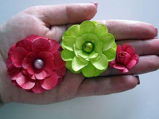 Flores de papel para scrap, solo foto