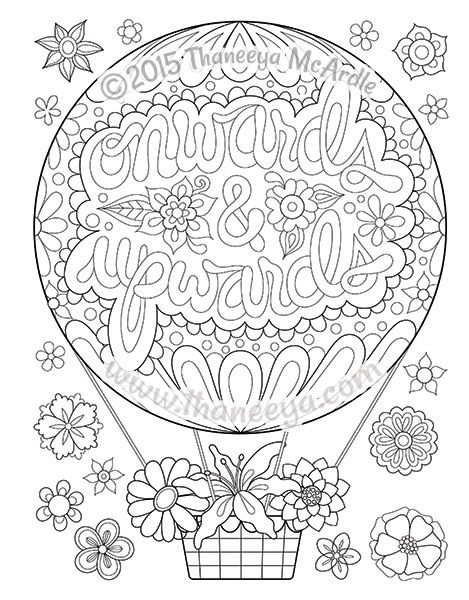 Coloring Page From Thaneeya McArdles Good Vibes Book