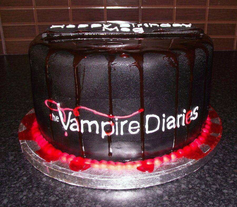 Tvd The Vampire Diaries Birthday Cake Cake Ideas Pinterest