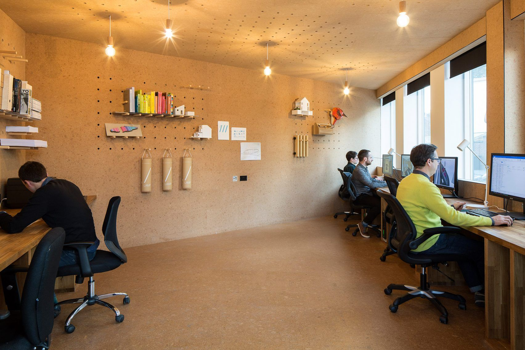 Selencky Parsons Adds Cork Lined Pod With Pegboard Walls To Its