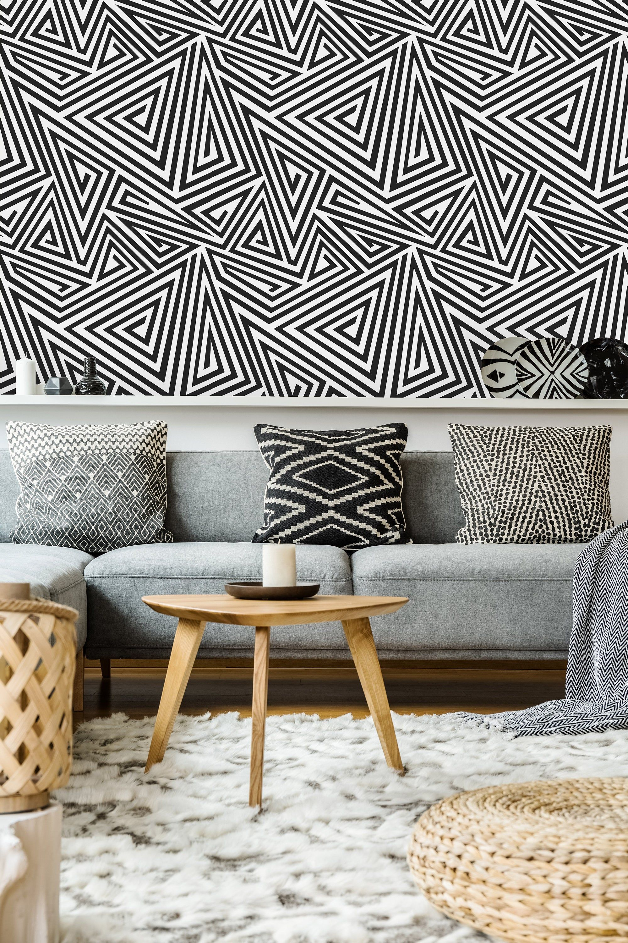 Geometric Spiral Triangle Removable Wallpaper Peel And Stick Wallpaper Wall Mural Self Adhesive Wallpaper Wall Wallpaper Self Adhesive Wallpaper Peel Stick Wallpaper