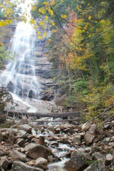 Silver Cascade A Waterfall In Crawford Notch State Park White Mountain National Forest New Hshire Nh England Usa