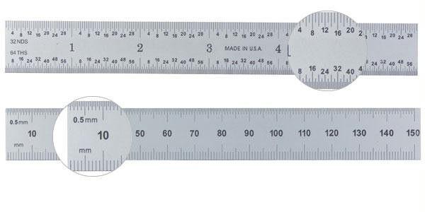 """Ultratest 6""""-150mm Rigid Steel Rule"""
