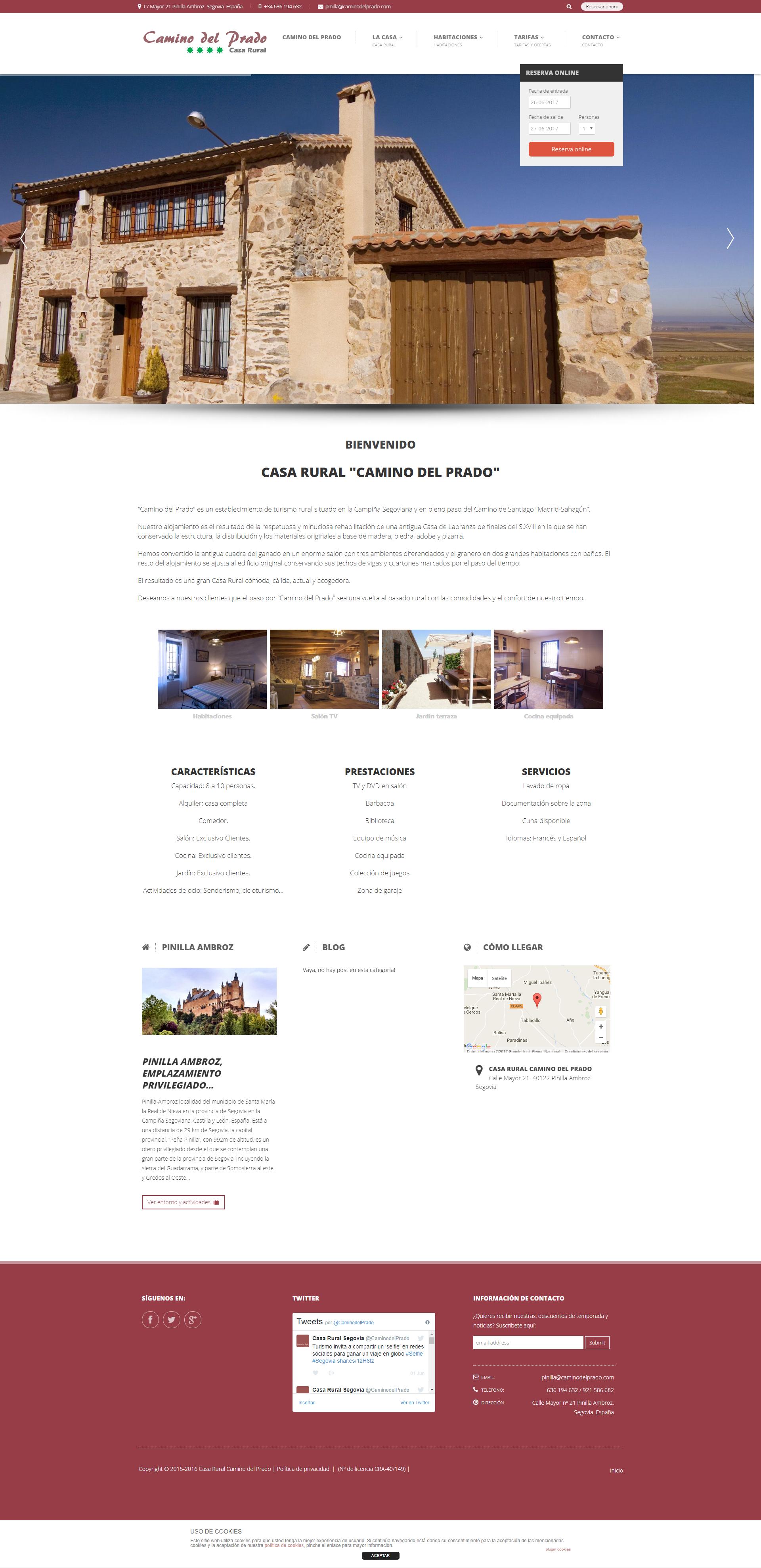 Diseños Web para Hoteles y Casas Rurales.
