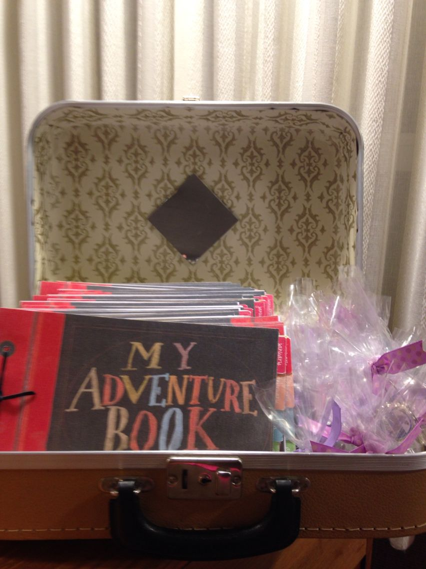 New Beginnings UP themetake home favors (adventure books