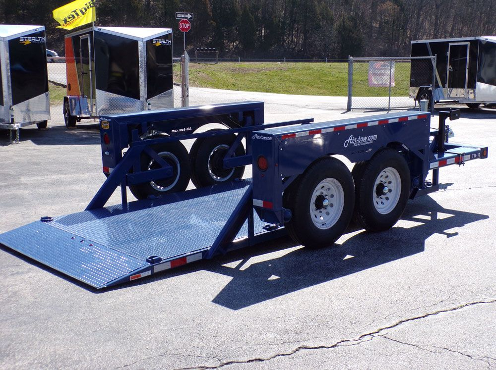 14' AirTow T1410 in down position Towing, Positivity