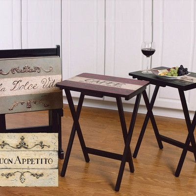Cape Craftsmen Buon Appetito TV Tray with Stand..not sure how you feel about themed furniture, but wanted to pin it to find out!