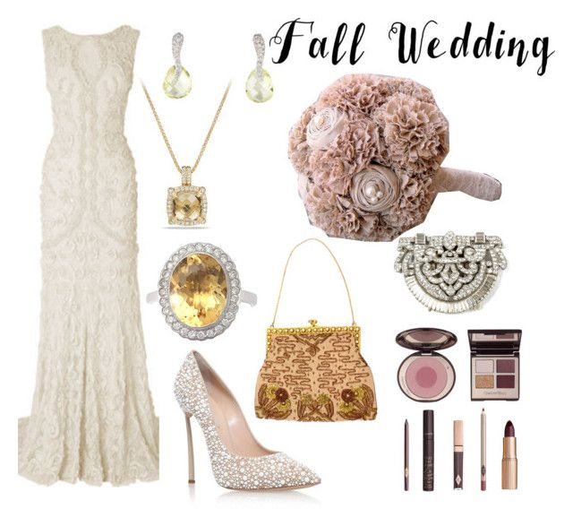 """Antique Fall Bride"" by kej110-1 ❤ liked on Polyvore featuring David Yurman, Casadei, Ben-Amun, Charlotte Tilbury and fallwedding"