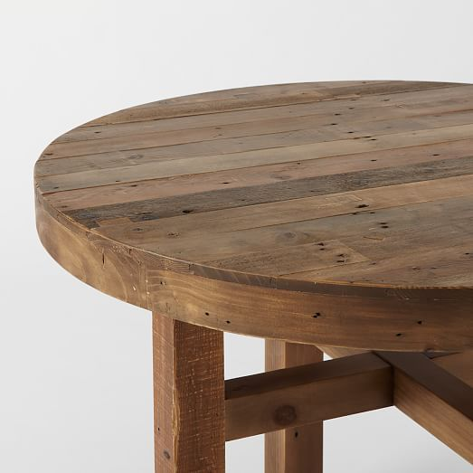 Emmerson Reclaimed Wood Round Dining Table Dining Table Ideas